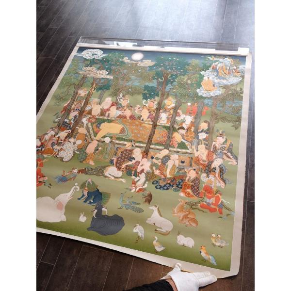 肉筆仏画 釈迦涅槃図|hotoke