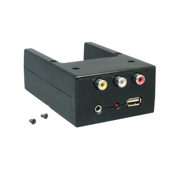 槌屋ヤック/YAC 1DINボックス用オーディ入力端子(RCA/φ3.5AUX) USBポート VP-D3/|hotroad