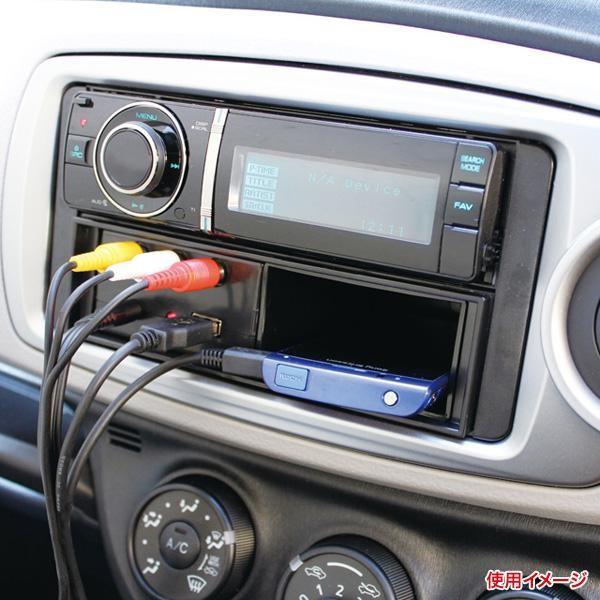 槌屋ヤック/YAC 1DINボックス用オーディ入力端子(RCA/φ3.5AUX) USBポート VP-D3/|hotroad|02