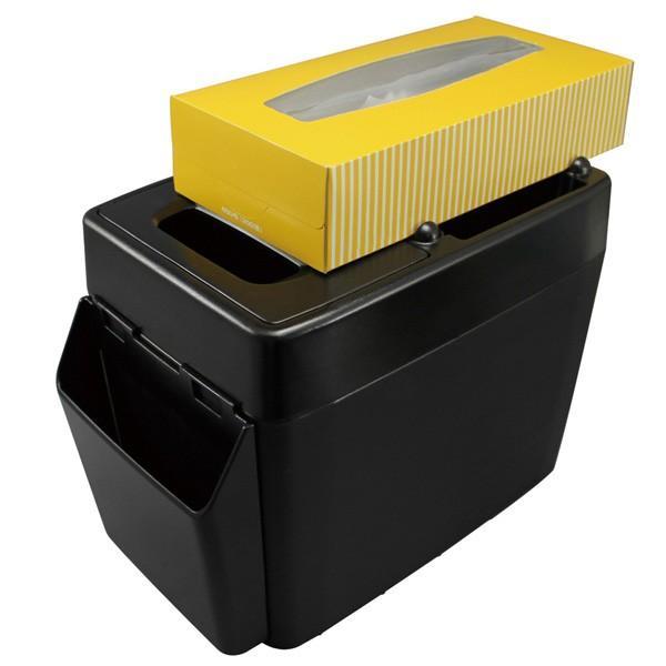 ゴミ箱 車 ラージトラッシュ3 ブラック 小物入れ付き ボックスティッシュ置き ウォークスルーに最適/ヤック PZ-593|hotroad|04