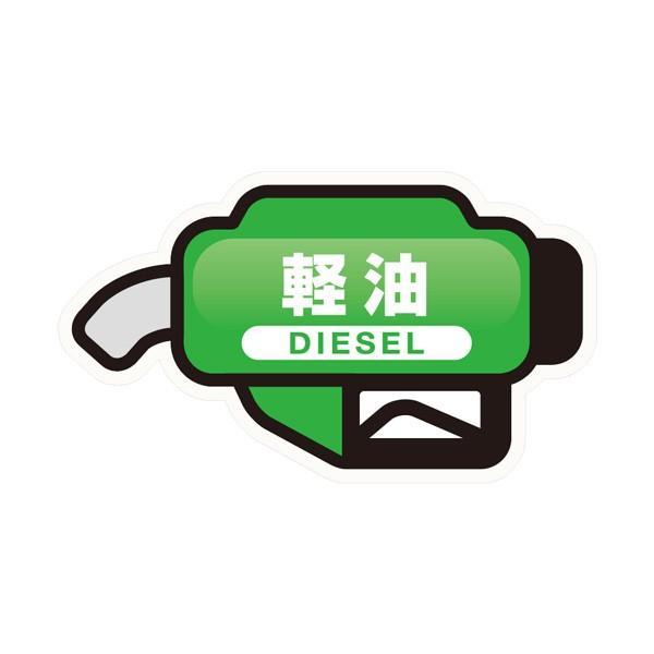 フューエルシール 軽油 給油口ステッカー 燃料入れ間違い防止 油分に強いシール材質 約縦3.5cm/横6cm グリーン ヤック TS-268