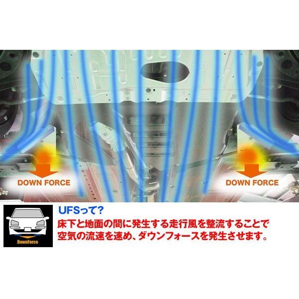 アケア:デリカ D:5 CV4/5W 2WD 4WD UFS アンダーフロアスポイラー ダウンフォースで走行安定 フロント用 UFMI-00401|hotroadtirechains|02