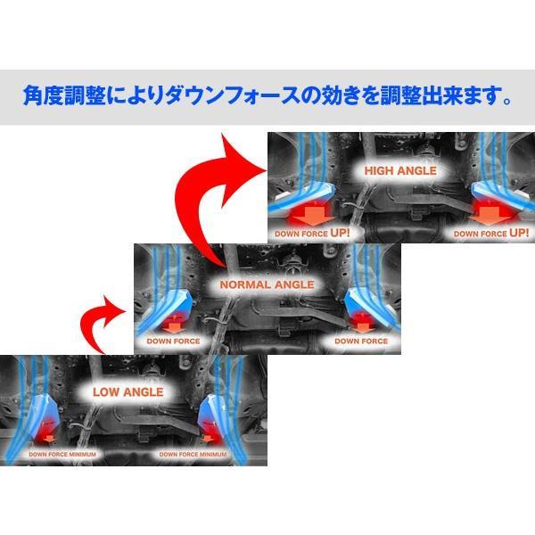 アケア:デリカ D:5 CV4/5W 2WD 4WD UFS アンダーフロアスポイラー ダウンフォースで走行安定 フロント用 UFMI-00401|hotroadtirechains|03