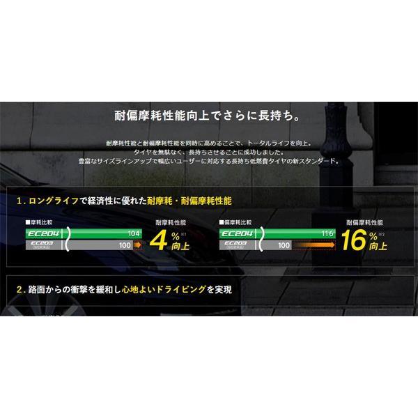185/70R14 88S 4本セット 16〜17年製 エナセーブ EC204 低燃費 長持ちタイヤ 夏タイヤ ダンロップ|hotroadtirechains|03
