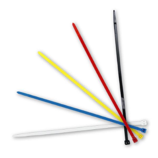 メール便可|トヨミツ:結束バンド 5色カラー 白 黒 赤 黄 青 200mm 100本入 配線 ケーブル/603-C20|hotroadtirechains