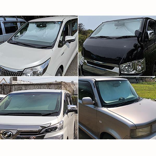 車用 サンシェード 常時取付型 フロントガラス 200系ハイエース/NV350キャラバン ワイド 日除け 駐車 車中泊 UVカット SS-1400|hotroadtirechains|08