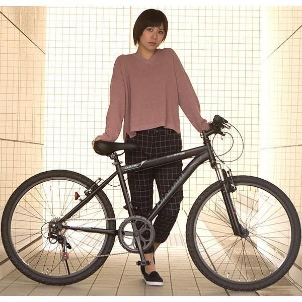 マウンテンバイク26インチ 6段変速自転車 Fサス MTB ハードテイル 街乗り レジャー レッド MYPALLAS/マイパラス 池商 M-620N|hotroadtirechains|03