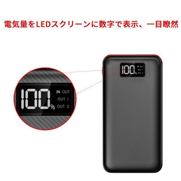 モバイルバッテリー 大容量 急速充電 充電器 24000mAh 急速 充電 iPhone iPad Android 各種対応|hotsale|04