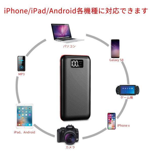 モバイルバッテリー 大容量 急速充電 充電器 24000mAh 急速 充電 iPhone iPad Android 各種対応|hotsale|05