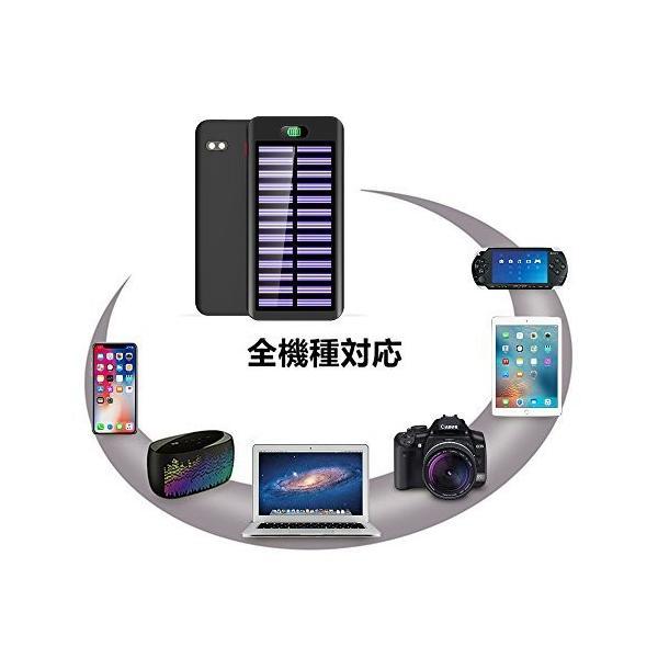 モバイルバッテリー ソーラーチャージャー 大容量 急速 充電器 急速充電 16000mAh ソーラー充電器 電源充電可 Android IPHONE iPad 対応|hotsale|07
