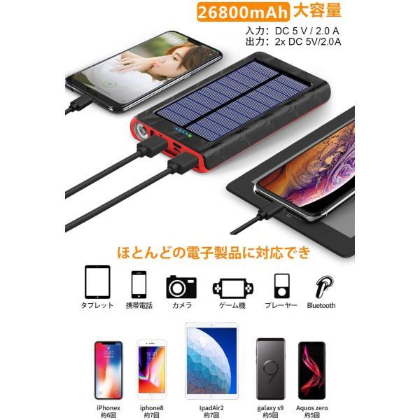 モバイルバッテリー ソーラーチャージャー 大容量 ソーラー 急速充電 ソーラー充電器 Android Apple iPad 対応 24000mAh / 22000mAh hotsale 03