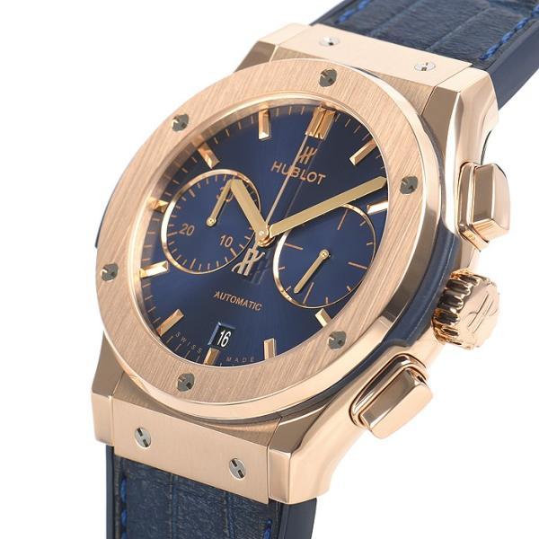 ウブロ HUBLOT クラシックフュージョン ブルー クロノグラフ キングゴールド 521.OX.7180.LR 中古  メンズ 腕時計|houseki-h|02