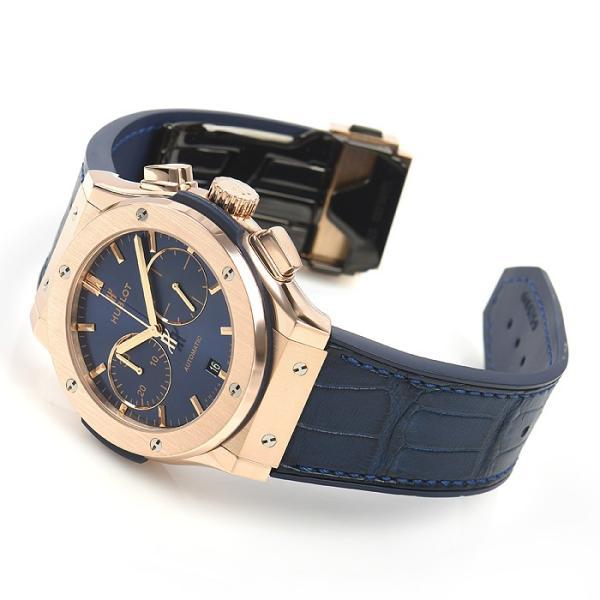 ウブロ HUBLOT クラシックフュージョン ブルー クロノグラフ キングゴールド 521.OX.7180.LR 中古  メンズ 腕時計|houseki-h|03
