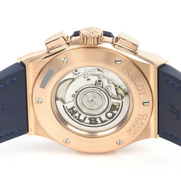 ウブロ HUBLOT クラシックフュージョン ブルー クロノグラフ キングゴールド 521.OX.7180.LR 中古  メンズ 腕時計|houseki-h|04