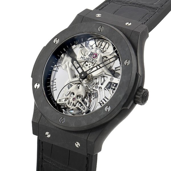 ウブロ HUBLOT クラシックフュージョン トゥールビヨン ブラックスカル 世界限定50本 505.UC.0140.LR.SKULL 中古  メンズ 腕時計|houseki-h|02