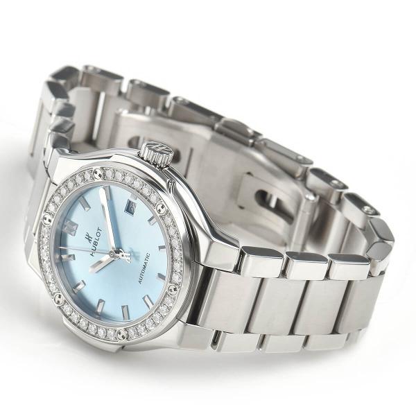 ウブロ HUBLOT クラシックフュージョン チタニウム ライトブルー ブレスレット 585.NX.891L.NX.1204 中古 レディース 腕時計|houseki-h|03