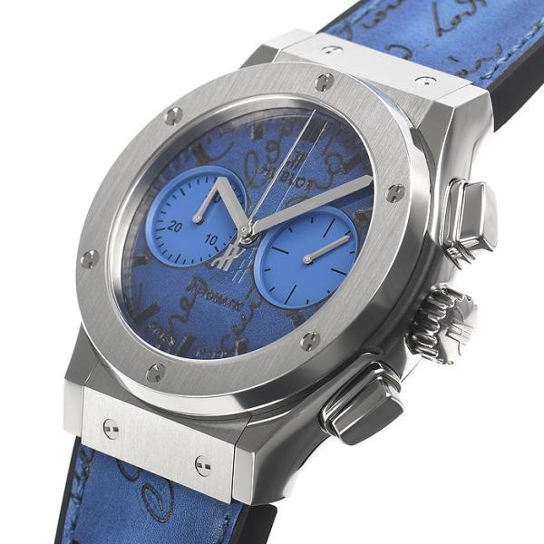 ウブロ HUBLOT クラシックフュージョン クロノグラフ ベルルッティ スクリットオーシャンブルー 限定生産250本 521.NX.050B.VR.BER18 新品  メンズ 腕時計|houseki-h|02