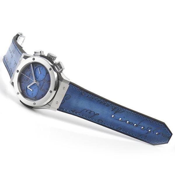ウブロ HUBLOT クラシックフュージョン クロノグラフ ベルルッティ スクリットオーシャンブルー 限定生産250本 521.NX.050B.VR.BER18 新品  メンズ 腕時計|houseki-h|03