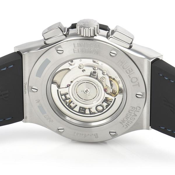 ウブロ HUBLOT クラシックフュージョン クロノグラフ ベルルッティ スクリットオーシャンブルー 限定生産250本 521.NX.050B.VR.BER18 新品  メンズ 腕時計|houseki-h|04