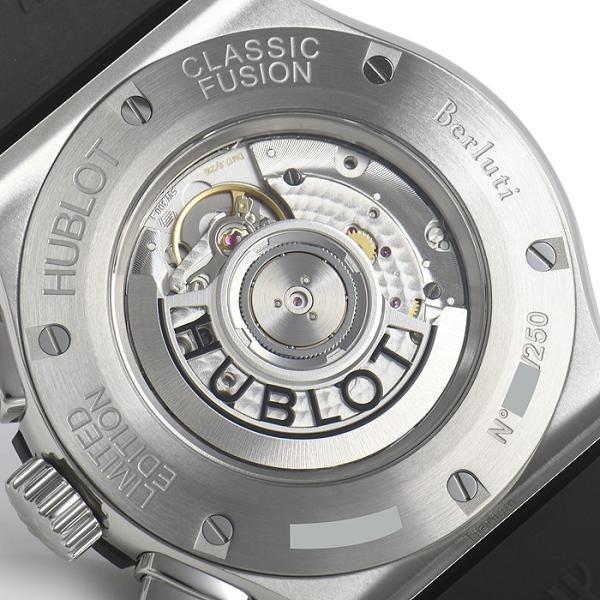 ウブロ HUBLOT クラシックフュージョン クロノグラフ ベルルッティ スクリットオーシャンブルー 限定生産250本 521.NX.050B.VR.BER18 新品  メンズ 腕時計|houseki-h|06