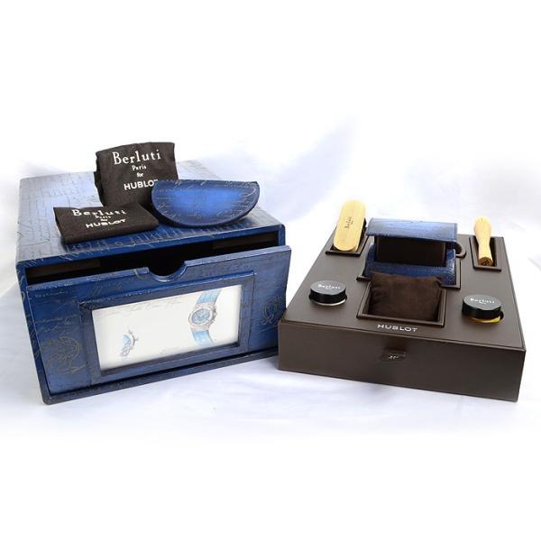 ウブロ HUBLOT クラシックフュージョン クロノグラフ ベルルッティ スクリットオーシャンブルー 限定生産250本 521.NX.050B.VR.BER18 新品  メンズ 腕時計|houseki-h|07