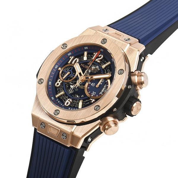 ウブロ HUBLOT ビッグバン ウニコ キングゴールド ブルー 411.OX.5189.RX 新品  メンズ 腕時計|houseki-h|02