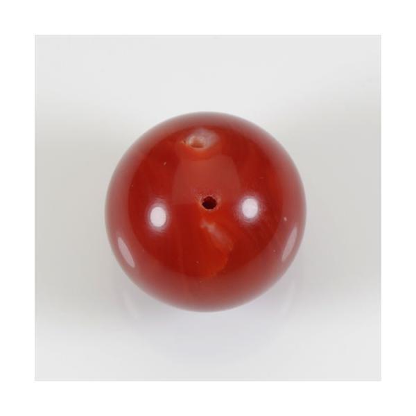 赤珊瑚 丸玉 ルース 13.7mm 18.2ct 無染色 SANSUI