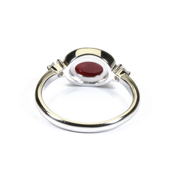 血赤珊瑚 リング プラチナ Pt900 高知産 無染色 SANSUI