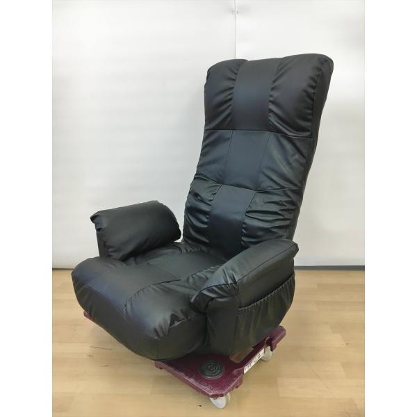 ニトリNITORIポケットコイル回転座椅子ジャック座椅子ブラック6段リクライニングヒジツキカイテンザイスジャック美品2102LS