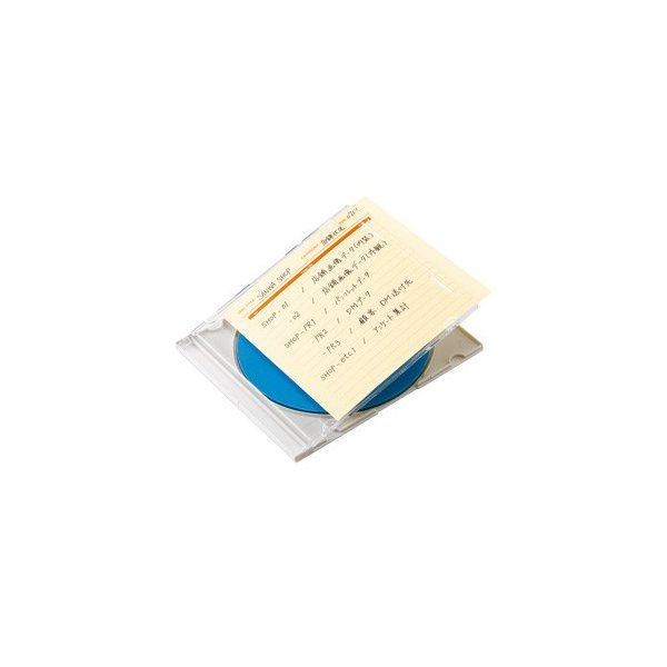 サンワサプライ JP-IND6Y 手書き用インデックスカード(イエロー) JP-IND6Y