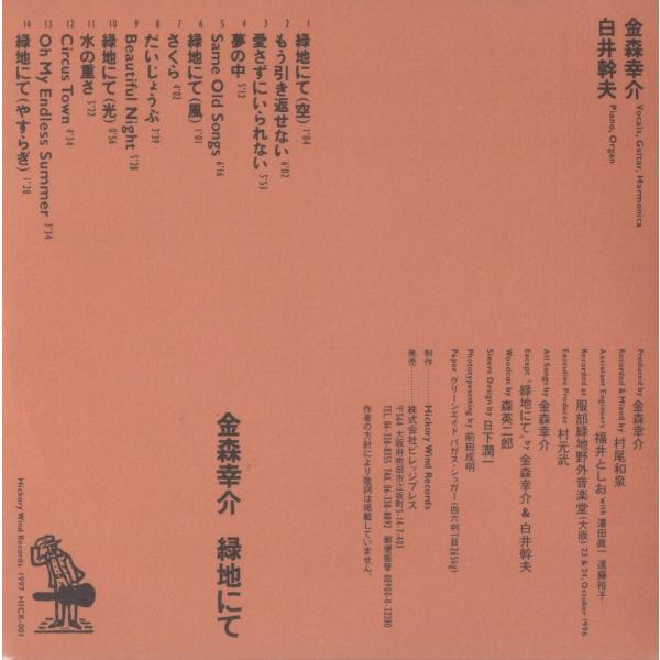 【稀少盤】金森幸介 / 緑地にて|hoyhoy-records|03