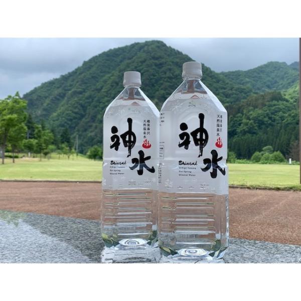 水 天然水 温泉水 越後湯沢温泉 神水 しんすい 飲む温泉 デトックス pH8.9 軟水 天然温泉水 神水 2リットル 6本入り|hs-shop|02