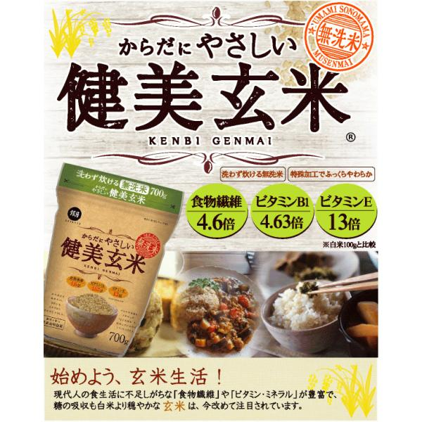 玄米 食べやすい 無洗米 時短  やさしい玄米 2kg 29年産 送料無料 (岩手県産 ひとめぼれ 使用) 特A|hseason|02