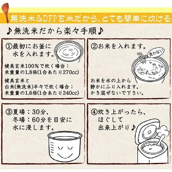 (訳あり特価) 玄米 食べやすい 無洗米 時短 からだにやさしい健美玄米 700g セール (単品購入の場合送料加算) 28年産 (岩手ひとめぼれ) 特A|hseason|05