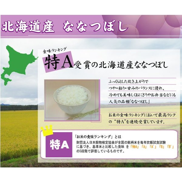 新米 5kg ななつぼし 北海道産 精白米 白米 30年産 送料無料|hseason|04