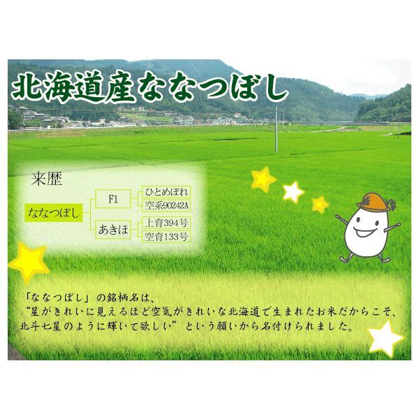 新米 5kg ななつぼし 北海道産 精白米 白米 30年産 送料無料|hseason|05