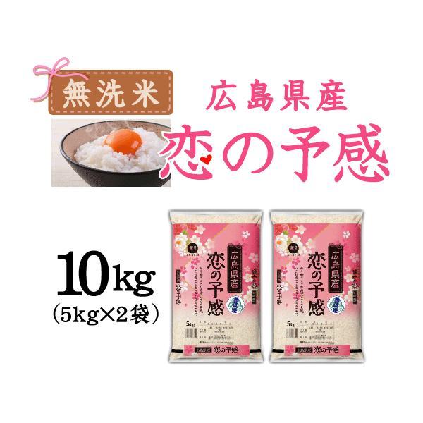 無洗米 5kg×2 恋の予感 広島県産 10kg バレンタイン ミニチョコおまけ付き 30年産 送料無料|hseason|06