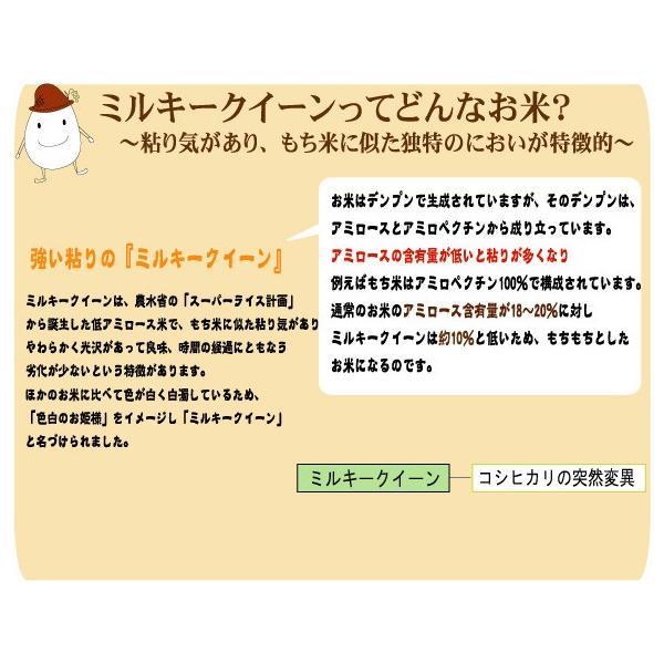 無洗米 5kg×2袋 ミルキークイーン 石川県産 10kg 29年産 送料無料|hseason|05