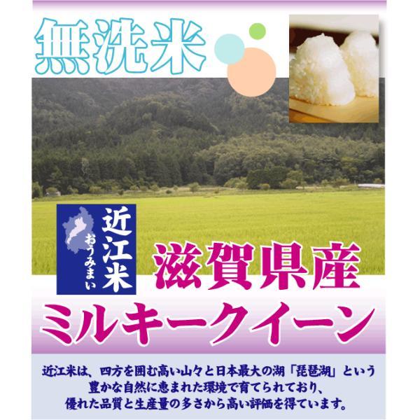 無洗米 5kg×2袋 ミルキークイーン 滋賀県産 近江米 10kg  ポイント3倍 29年産 送料無料|hseason|02