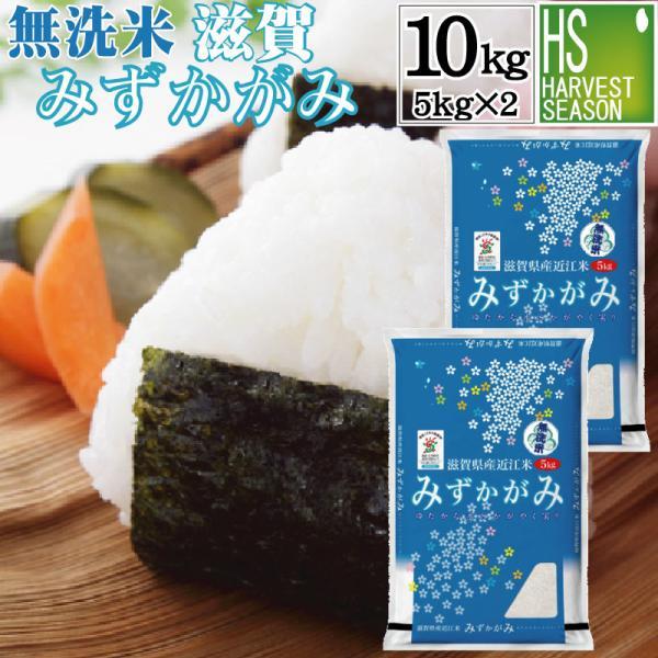 無洗米 5kg×2 みずかがみ 滋賀県産 10kg 30年産 特別栽培米 送料無料 特A|hseason