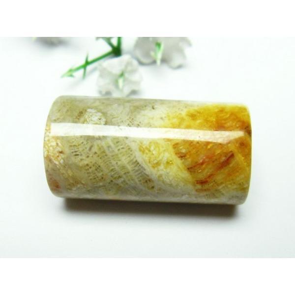 パワーストーン 天然石 珊瑚 コーラル バレル型 ビーズ t155-1463
