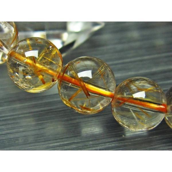 パワーストーン 天然石 放射ゴールドタイチンルチルブレスレット10mm t76-2420