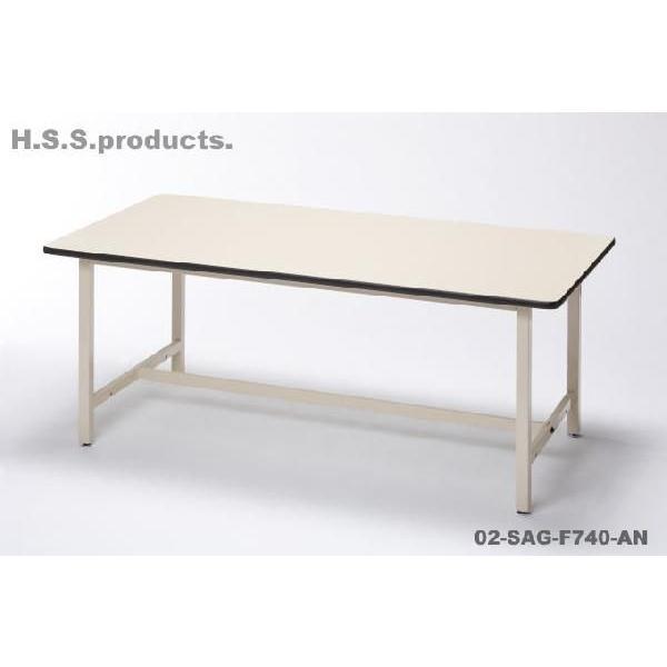 (TAURUS)定番作業台(工場作業テーブル/ワークテーブル)900×1800×高740(天板フロアリューム・鉄アジャスター脚・タナ無)(平野システム)|hss-products