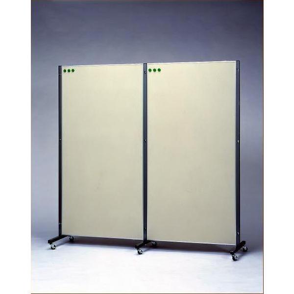 HIRANO.S.S. 縦横自在 連結展示パネル(展示板) マグネットフォームタイプ 900×1800「基本型」(パネル1枚、支柱2本セット)|hss-products