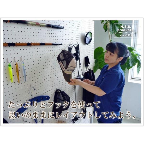 道具整理有孔ボード (道具用有孔ツールハンガー)900×1500 キャスタータイプ 有孔用フック20本付属。(平野システム作業台)『予約』|hss-products|06