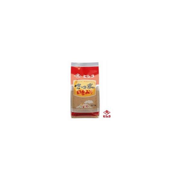 (送料無料・代引&同梱不可)ヒシク藤安醸造 さつま田舎麦みそ(麦白みそ) 1kg×5個