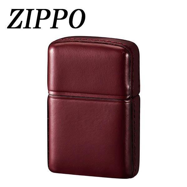 (送料無料)ZIPPO 革巻 松阪牛 ワインレッド