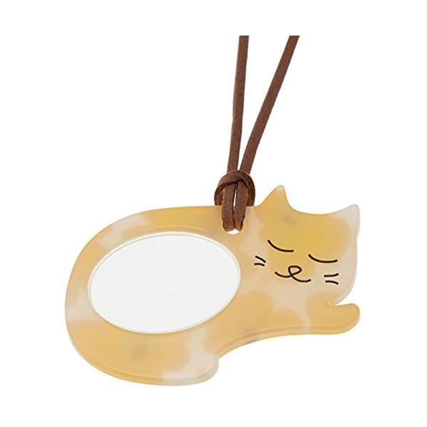 (送料無料)ペンダント型ルーペ 猫(ニャンコ)シリーズ ルーペ寝ニャン PR14-4-WH 072004