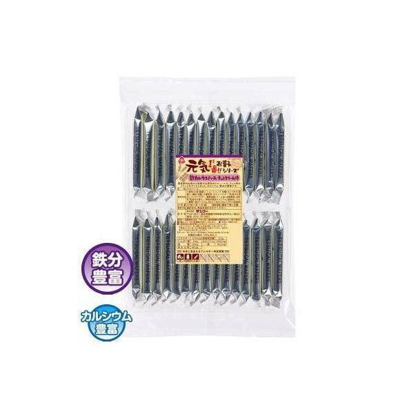 (送料無料・代引&同梱不可)サンコー 元気 鉄カルウエハース チョコクリーム味 10袋