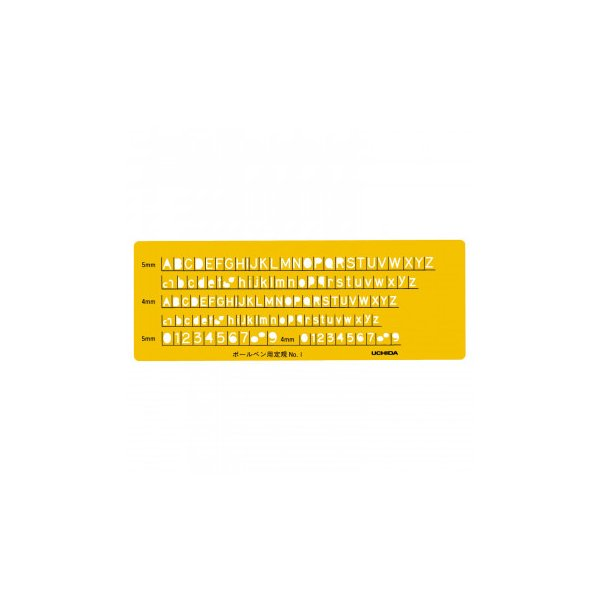 (送料無料)テンプレート 英字数定規ボールペン用 NO1 1-843-1201